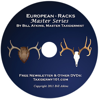 European Skull and Rack Mounting Taxidermy DVD